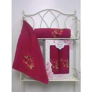 Набор из 2 полотенец Merzuka Sakura (50х90/70х140) (8430 бордовый) набор из 3 полотенец merzuka sakura 50х90 2 70х140 8432 розовый