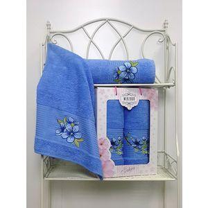 Набор из 2 полотенец Merzuka Sakura (50х90/70х140) (8430 голубой) набор из 3 полотенец merzuka sakura 50х90 2 70х140 8432 розовый