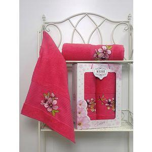 Набор из 2 полотенец Merzuka Sakura (50х90/70х140) (8430 малиновый) набор из 3 полотенец merzuka sakura 50х90 2 70х140 8432 розовый