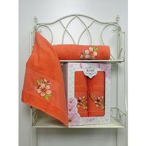 Набор из 2 полотенец Merzuka Sakura (50х90/70х140) (8430 оранжевый) набор из 3 полотенец merzuka sakura 50х90 2 70х140 8432 сиреневый