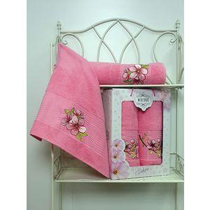 Набор из 2 полотенец Merzuka Sakura (50х90/70х140) (8430 розовый) набор из 3 полотенец merzuka sakura 50х90 2 70х140 8432 розовый
