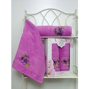 Набор из 2 полотенец Merzuka Sakura (50х90/70х140) (8430 светло-лиловый) набор из 3 полотенец merzuka sakura 50х90 2 70х140 8432 розовый