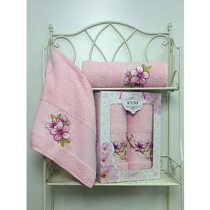 Набор из 2 полотенец Merzuka Sakura (50х90/70х140) (8430 светло-розовый) набор из 3 полотенец merzuka sakura 50х90 2 70х140 8432 сиреневый