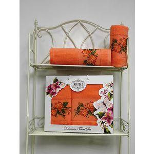Набор из 2 полотенец Merzuka Kanavice (50х90/70х140) (8544 оранжевый) набор из 3 полотенец merzuka sakura 50х90 2 70х140 8432 оранжевый