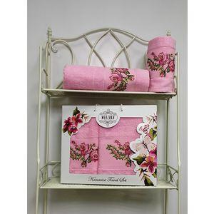 Набор из 2 полотенец Merzuka Kanavice (50х90/70х140) (8544 розовый) набор из 2 полотенец merzuka sakura 50х90 70х140 8430 малиновый