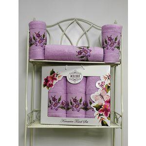 Набор из 3 полотенец Merzuka Kanavice (50х90-2/70х140) (8545 сиреневый) набор из 3 полотенец merzuka sakura 50х90 2 70х140 8432 розовый