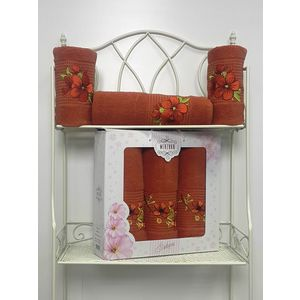 Набор из 3 полотенец Merzuka Sakura (50х90-2/70х140) (8432 терракотовый) набор из 3 полотенец merzuka sakura 50х90 2 70х140 8432 розовый