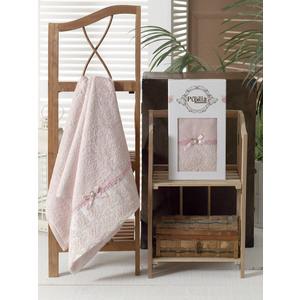 Полотенце Pupilla Diana бамбук с гипюром (50x90) (8685 розовый)