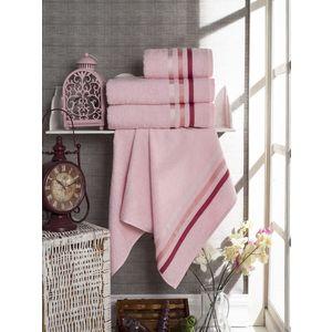 Набор из 4 полотенец Vevien Ekonomik (50х90-2/70х140) (8286 розовый) набор из 3 полотенец merzuka sakura 50х90 2 70х140 8432 оранжевый