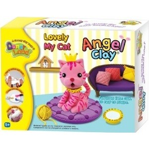 Масса для лепки Angel Clay Lovely my cat (AA07021) angel clay аа07011s масса для лепки смешарики