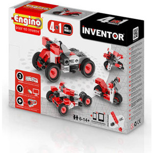 Конструктор Engino Inventor Мотоциклы - 4 модели (PB 12) конструкторы engino pico builds inventor мотоциклы 8 в 1