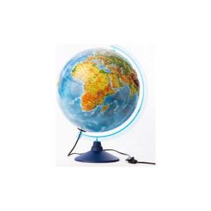Globen Глобус Земли физико-политический рельефный 320 с подсветкой серия Евро (Ке013200233) globen глобус земли политический рельефный 320 серия евро