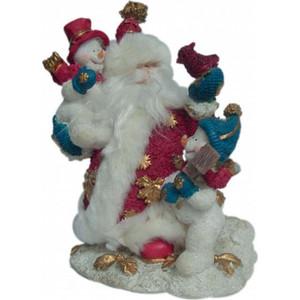 Snowmen полистоун блест. дед мороз с иск. мехом 20см 4 (Е6242)