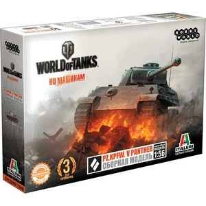 Сборная модель Hobby World World of Tanks. Pz.Kpfw. V PANTHER. Масштабная модель 1:56 (1629)