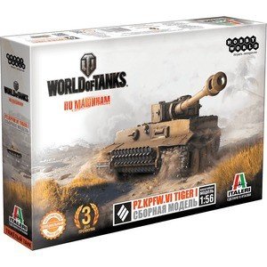 Сборная модель Hobby World World of Tanks. Pz.Kpfw.VI TIGER I. Масштабная модель 1:56 (1630) knl hobby voyager model pe35418 m1a1 tusk1 ubilan