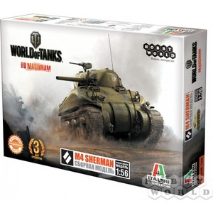 Сборная модель Hobby World World of Tanks. M4 SHERMAN. Масштабная модель 1:56 (1631) knl hobby voyager model pe35418 m1a1 tusk1 ubilan