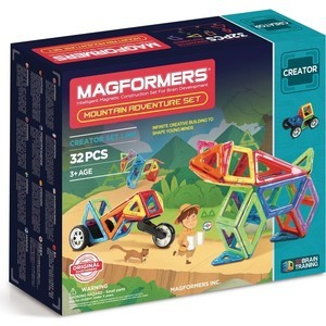 Магнитный конструктор Magformers Adventure Mountain 32 set (703011) magformers tiny friends