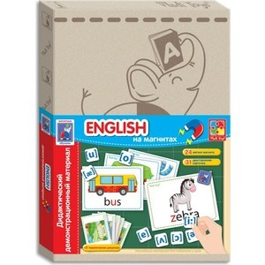 где купить Развивающая игра Vladi Toys Дидактический материал с магнитами English (VT3701-06) дешево