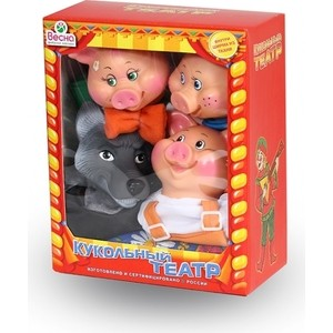 Фотография товара кукольный театр Весна 4 персонажа с ширмой №2 (В2929) (600101)