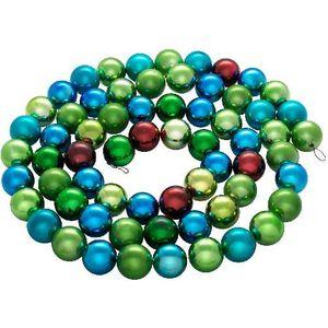 Snowmen цепь блест. пластик шары 3см 80шт. многоцв. 2, 5м в пакете (ЕК0179)