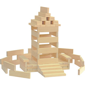 Конструктор Краснокамская игрушка Брусочки строительные (К-04) краснокамская игрушка деревянный конструктор малыш
