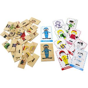 Логическая игра Краснокамская игрушка Профессии (ЛИ-07) логическая игрушка краснокамская игрушка ли 01 лягушка