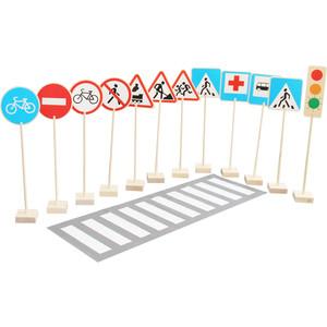 Набор Краснокамская игрушка Знаки дорожного движения (Н-21) краснокамская игрушка развивающая пирамидка кольцевая
