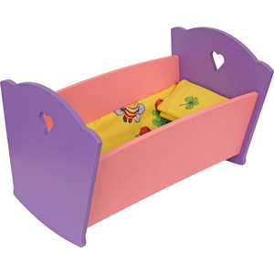 Фотография товара набор кукольной мебели Краснокамская игрушка Кроватка с постельным бельем (КМ-02) (600268)