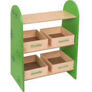 Фотография товара набор кукольной мебели Краснокамская игрушка Магазин с четырьмя ящичками (КМ-04) (600270)