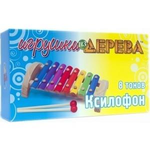 Мир деревянных игрушек Ксилофон 8 тонов (Д379)