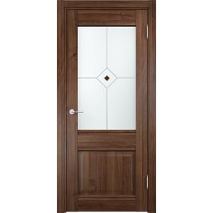 Дверь CASAPORTE Милан-12 остекленная 2000х600 экошпон Орех дверь межкомнатная ламинированная коллекция 10 27х 2000х700х40 мм остекленная ст худ миланорех л 12