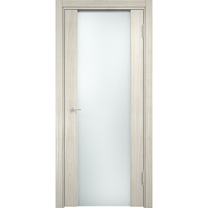 Дверь CASAPORTE Сан-Ремо-1 остекленная 2000х800 экошпон Дуб белёный мелинга