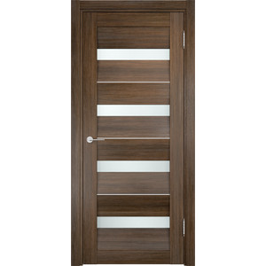 Дверь CASAPORTE Сицилия-12 остекленная 1900х550 экошпон Венге мелинга дверь casaporte сицилия 11 глухая 1900х550 экошпон венге мелинга