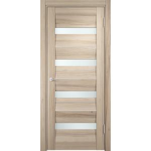 Дверь CASAPORTE Сицилия-12 остекленная 2000х600 экошпон Капучино дверь межкомнатная ламинированная коллекция 10 27х 2000х700х40 мм остекленная ст худ миланорех л 12