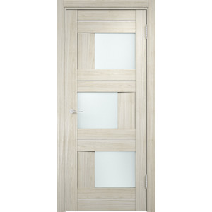 Дверь CASAPORTE Сицилия-14 остекленная 2000х600 экошпон Дуб белёный мелинга
