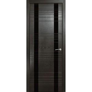 Дверь MILYANA ID-D остекленная 2000х600 шпон Неро дверь milyana id d остекленная 2000х700 шпон неро