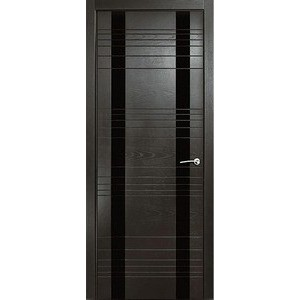 Дверь MILYANA ID-D остекленная 2000х700 шпон Неро дверь milyana id hl остекленная 2000х700 шпон бьянко