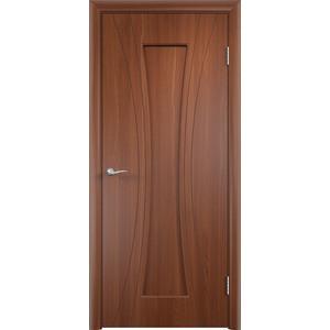 Дверь VERDA Богемия глухая 2000х600 ПВХ Итальянский орех дверь verda каролина глухая 2000х900 шпон дуб