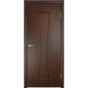 Дверь VERDA Богемия глухая 2000х700 ПВХ Венге дверь verda каролина глухая 2000х900 шпон дуб