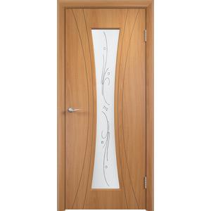 Дверь VERDA Богемия остекленная 2000х600 ПВХ Миланский орех дверь verda вираж остекленная 2000х600 пвх миланский орех