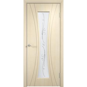 Дверь VERDA Богемия остекленная 2000х800 ПВХ Дуб белёный