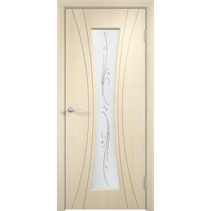 Дверь VERDA Богемия остекленная 2000х900 ПВХ Дуб белёный дверь verda стиль глухая 2000х900 шпон дуб белёный