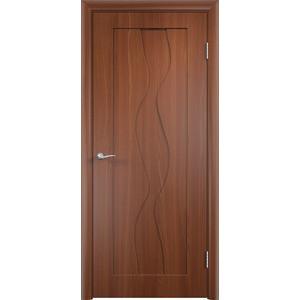 Дверь VERDA Вираж глухая 1900х550 ПВХ Итальянский орех дверь verda каролина глухая 1900х550 шпон макоре