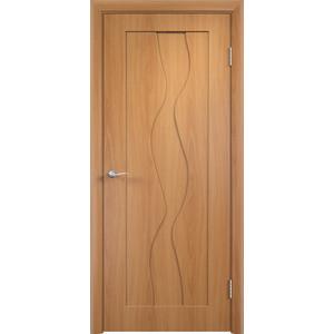 Дверь VERDA Вираж глухая 1900х600 ПВХ Миланский орех дверь verda каролина глухая 2000х900 шпон дуб