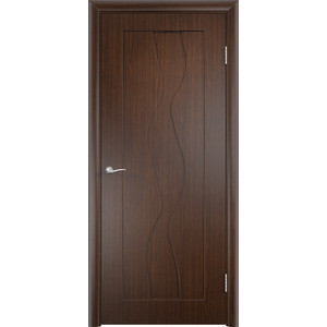 Дверь VERDA Вираж глухая 2000х700 ПВХ Венге дверь межкомнатная пвх коллекция start вираж плюс 1900х550х40 мм глухая миланорех п 12