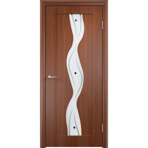 Дверь VERDA Вираж остекленная 1900х600 ПВХ Итальянский орех дверь verda неаполь 2 остекленная 1900х550 пвх итальянский орех