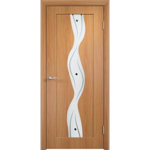 Дверь VERDA Вираж остекленная 2000х600 ПВХ Миланский орех дверь verda вираж остекленная 2000х600 пвх миланский орех