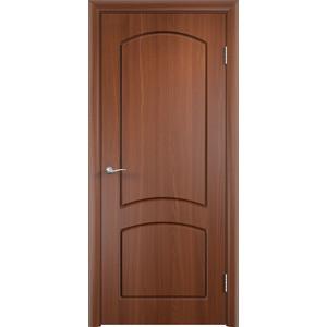 Дверь VERDA Кэрол глухая 2000х600 ПВХ Итальянский орех дверь verda каролина глухая 2000х900 шпон дуб