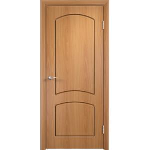 Дверь VERDA Кэрол глухая 2000х700 ПВХ Миланский орех дверь verda каролина глухая 2000х900 шпон дуб