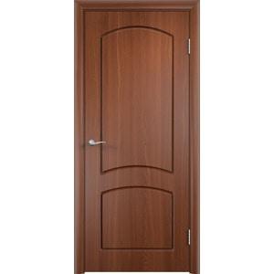 Дверь VERDA Кэрол глухая 2000х800 ПВХ Итальянский орех дверь verda кэрол остекленная 2000х800 пвх миланский орех